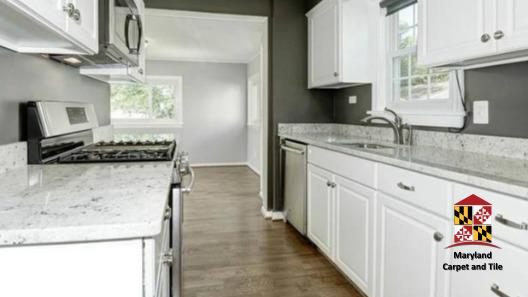 Complete kitchen remodeling including floor, cabinets, and utilities