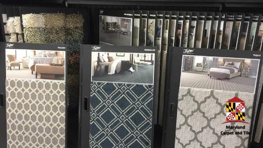 Great selection of carpeting samples